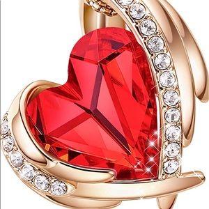 Rose gold heart shape Swarovski Necklace